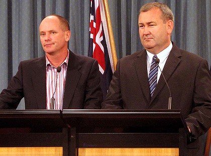 Premier Newsman and Police Minister Dempsey