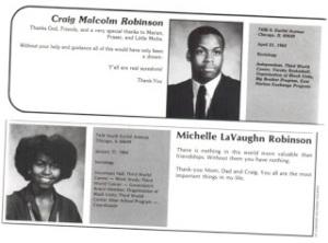 Michael robinson michelle obama
