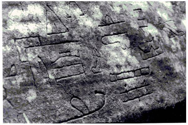 Petroglyphs at the New South Wales site depicting a Phoenician sea voyage to Australia, circa 231BC