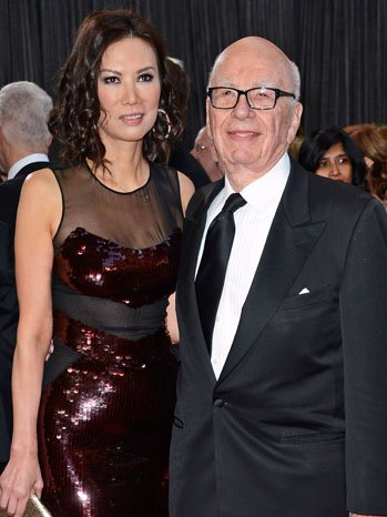 Rupert Murdoch, a naturalised American, with his ex-wife Wendi Deng