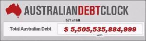 Australian debt clock