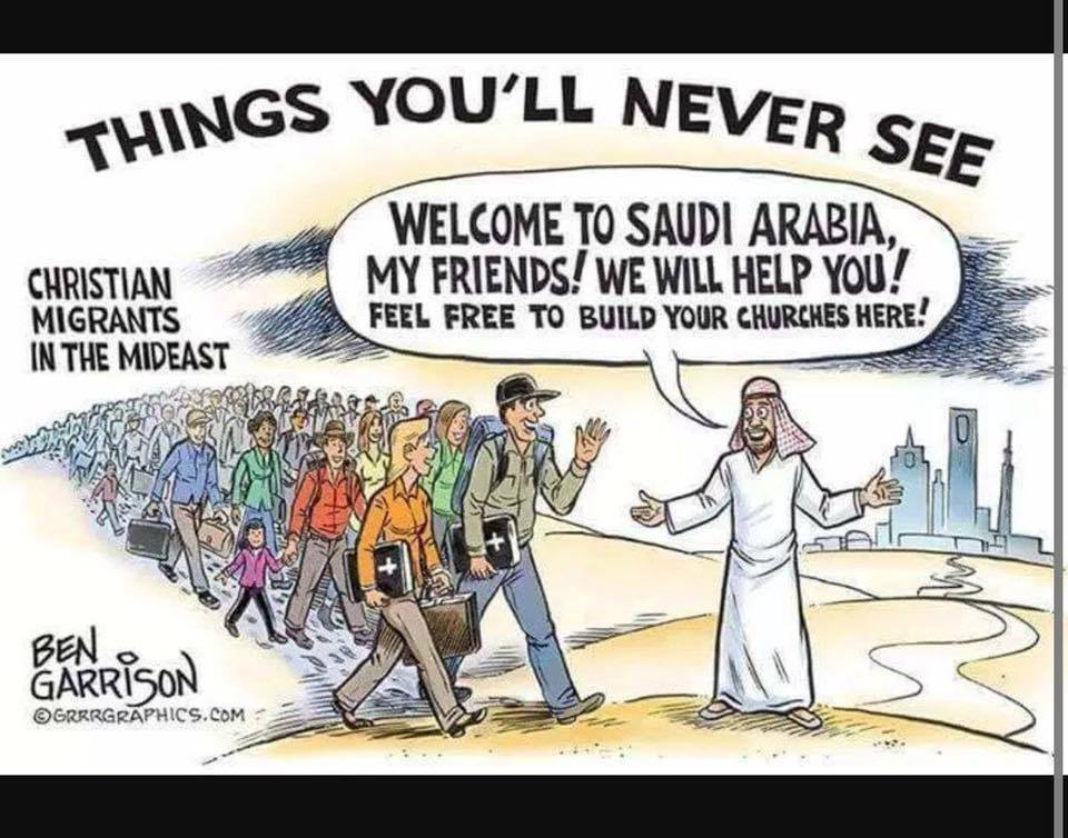 Imagin this happening - Christians welcomed